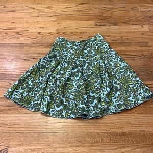 Merona Blue/Green Floral A-Line Skirt sz: 8